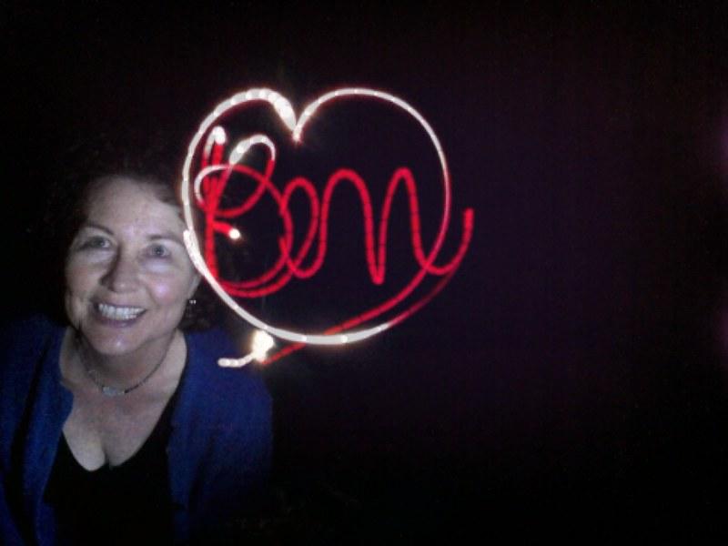 Kat made a light painting for Ben