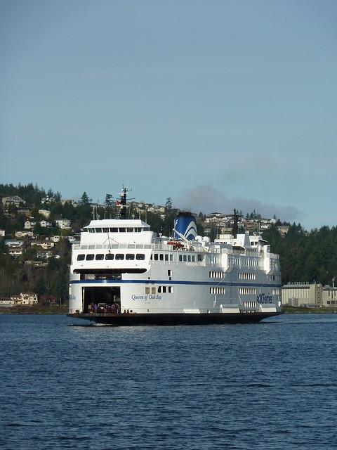Queen of Oak Bay arriving in Nanaimo