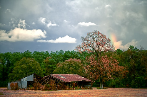 storm abandoned rainbow texas farm tomball