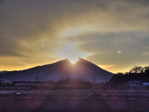 japan sunrise sony cybershot hdr ibaraki mttsukuba hx5v 初日の出、筑波山、下館、茨城