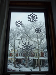 snow and snowflakes