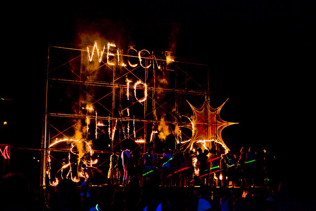 Lighting display for the Full Moon Party