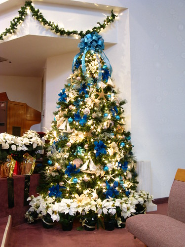 Blue and Beige Ocean Themed Christmas Tree | by Mastery of Maps
