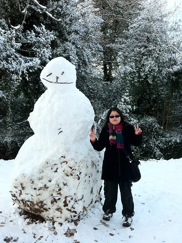 Big snowman by American Embassy in Phoenix Park. (I didn't make the snowman btw) | by whykay