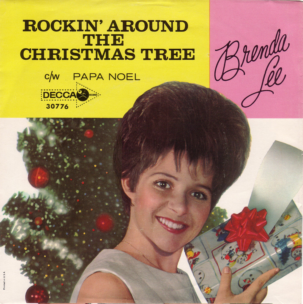 Image result for brenda lee rockin around the christmas tree picture sleeve