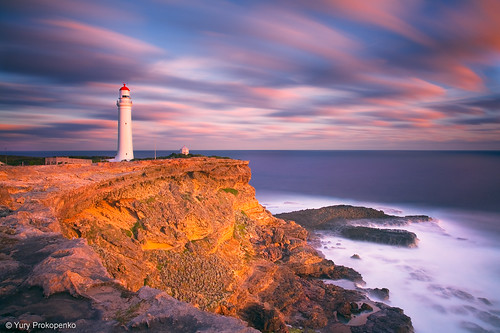ocean sunset sea sky lighthouse clouds portland landscape australia nelson victoria cape vic greatoceanroad