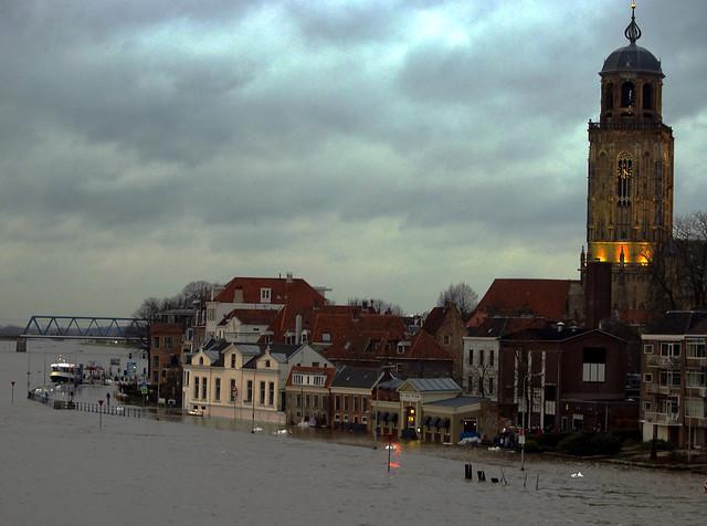 Deventer, nog dichter aan de IJssel dan gewoonlijk