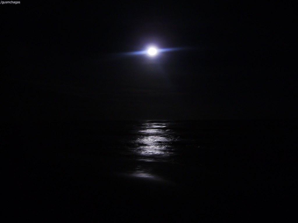 Noite A Beira Mar Noite De Lua Cheia No Litoral Norte Do R Flickr
