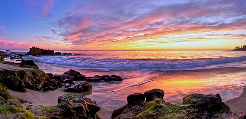 sunset sea landscape coast rocks action fisheye laguna lagunabeach costal nikkor16mm