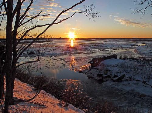 ocean winter water sunrise ma massachusetts shore photooftheweek newburyport refuge plumisland potw nationalwildliferefuge parkerrivernationalwildliferefuge parkerriver