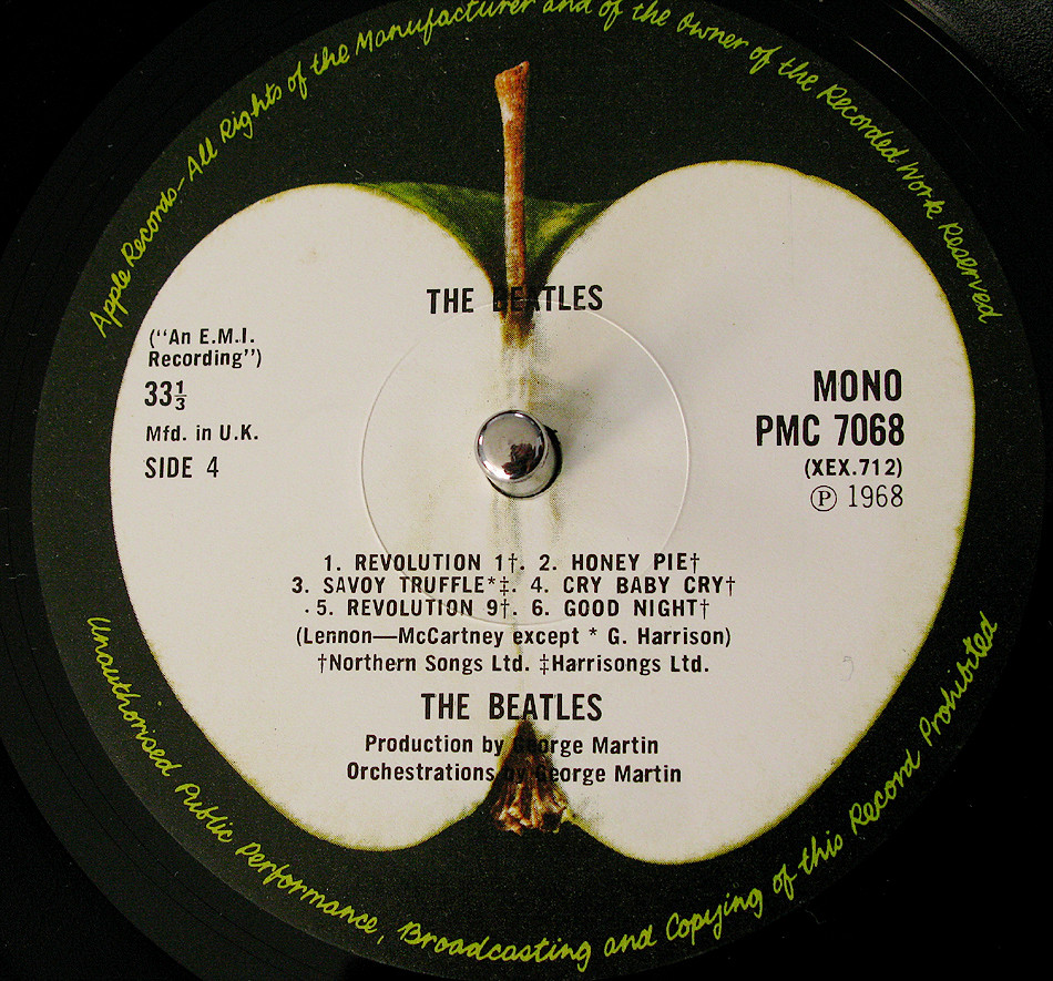 The Beatles` White Album UK MONO PMC 7068 Side 4 | one of th