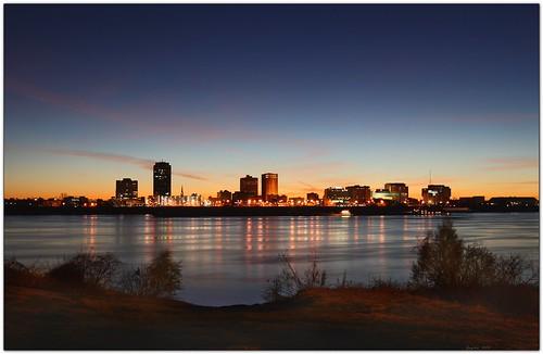 morning reflection water skyline sunrise landscape louisiana batonrouge mississippiriver bluehour 21mm mrgreenjeans gaylon portallen gaylonkeeling canon16mm35mm