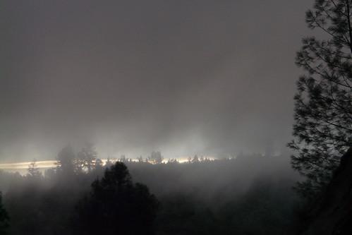 california mist fog forest sunrise gray canyon ridge commute norcal placercounty