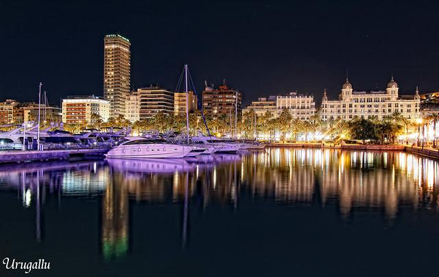 Puerto de Alicante-nocturnas