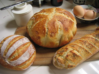 trio of bread   by kidmissile