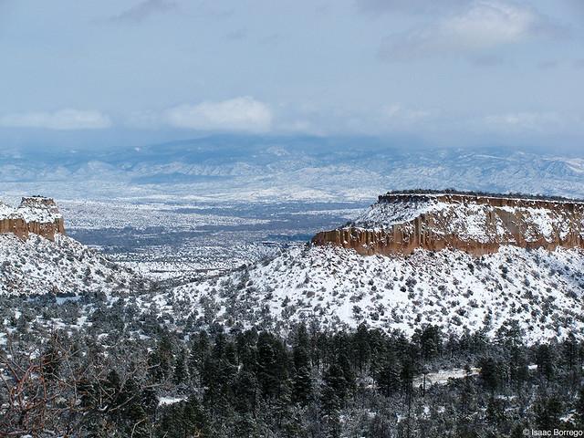 Snowy Mesas from Anderson Overlook - Los Alamos