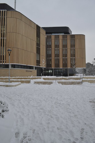 Life Sciences Building in the Snow