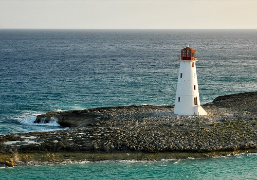 ocean lighthouse seascape sunrise landscape horizon bahamas nassau beacon explored