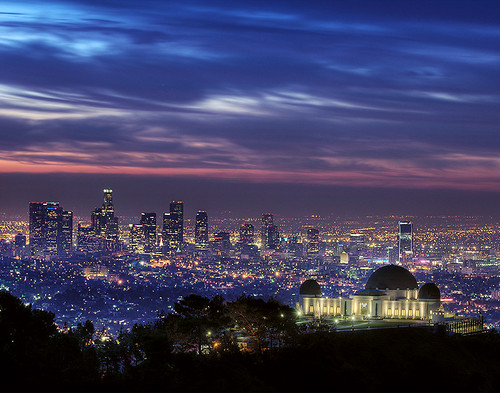 sunrise losangeles downtown longexposure hdr hiking hikes dawn night citylights skyline urban griffithobservatory clouds sky griffithpark cityscape mounthollywood city california urbanlandscape