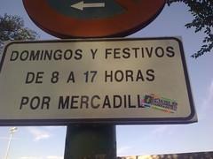 DOMINGOS Y FESTIVOS DE 8 A 17 HORAS POR MERCADILLO... Y TOMA LA PEGATINO.