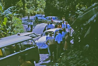 1971, Jamaica car accident