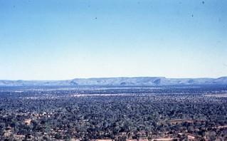 1961-Kununurra First houses from Kelly's Knob