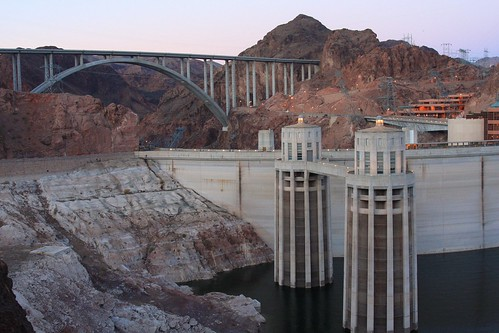 Hoover Dam (east abutment) and new Highway 93 Bridge (background) | by J. N. Stuart