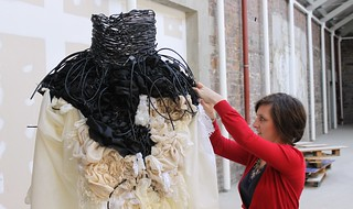 making 'constriction' dress | by Karen Le Roy Harris