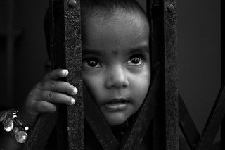 child face in black & white | by offbit2010