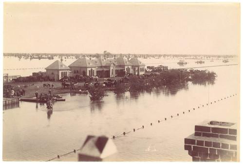 Flood, Railway Station, Bourke, 1890