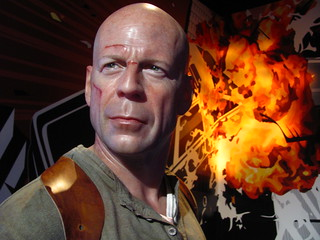 Bruce Willis/John McClane figure at Madame Tussauds Hollywood | by Castles, Capes & Clones