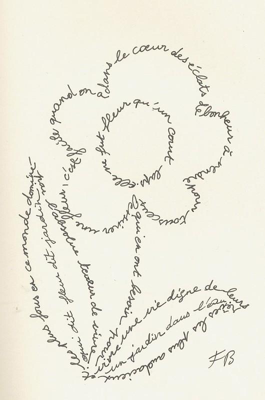 "MOLESKINE ""Calligramme de la fleur"" ©"