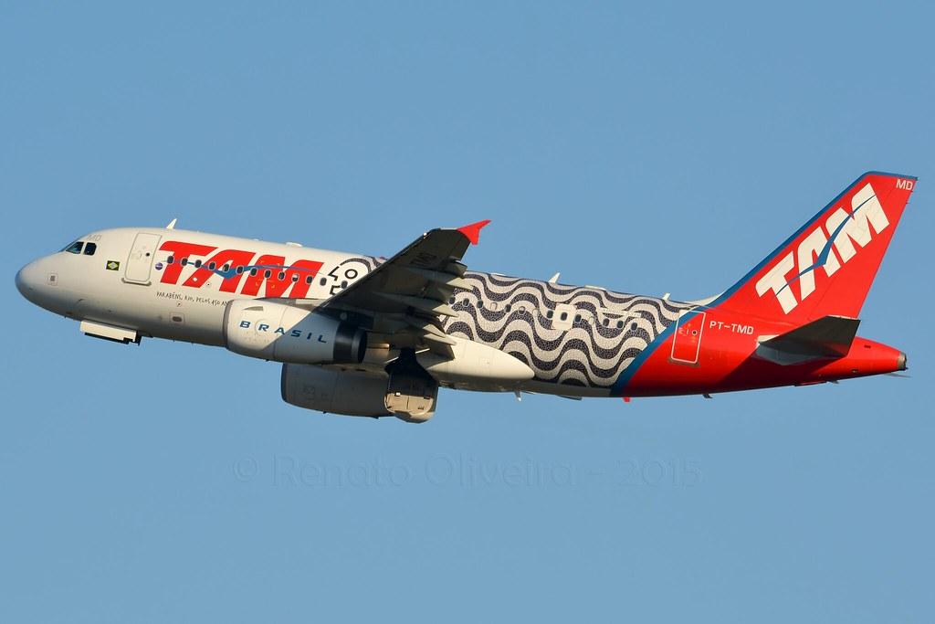 TAM (Rio 450 anos) PT-TMD A319 @ GRU