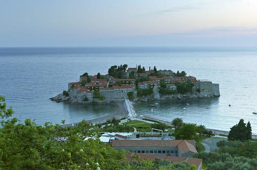 sea landscape island isle islet adriatic montenegro budva crnagora svetistefan