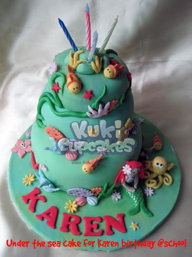 Under the sea cake for Karen