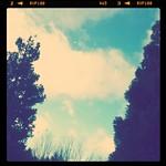 雲がながれてる