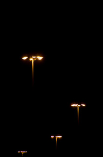 Hovering Lampaliens at night.   by J e n s
