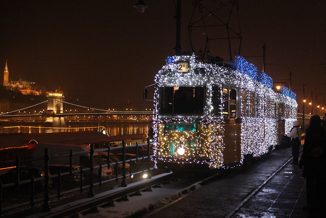 353/365 12-19-2010 Christmas Tram, Budapest