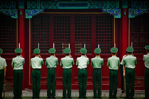 Chinese Soldiers in The Forbidden City - Beijing, China | by Patrick Rodwell