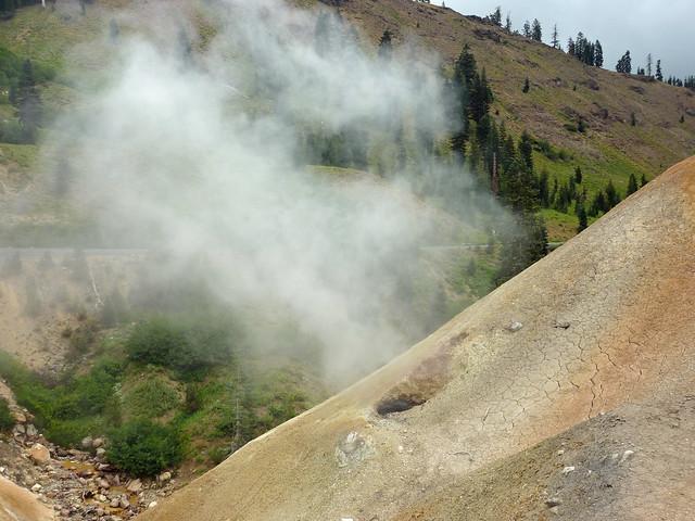 Steam vent in Lassen Peak National Park