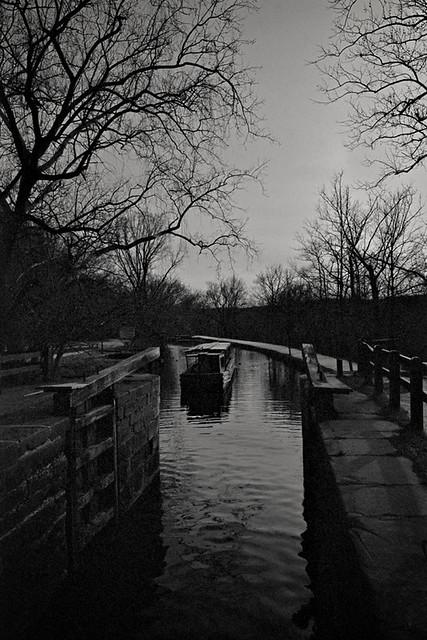 Canal Barge & Locks, C&O Canal, Washington, DC