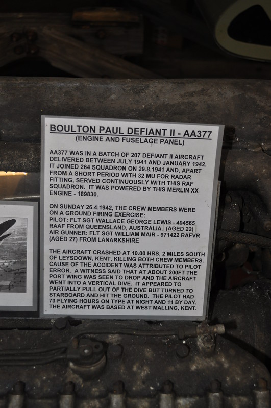 Defiant II AA377 264 Squadron information