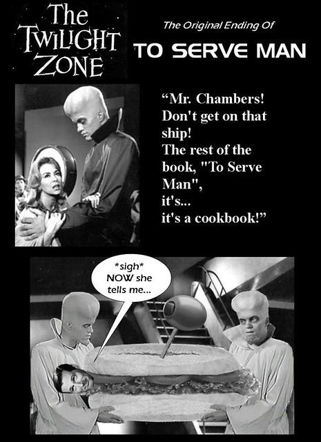 TWILIGHT ZONE : To Serve Man - The Original Ending