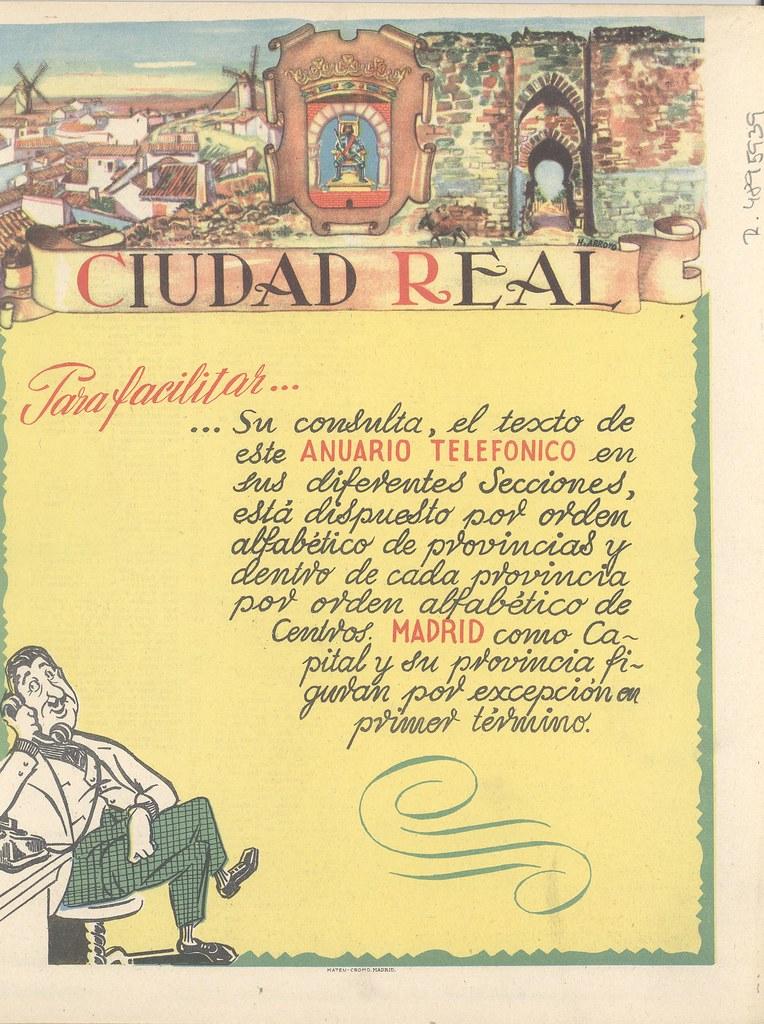 Mapa De La Provincia De Ciudad Real Reverso Titulo Mapa Flickr