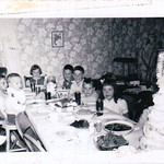 Left: Donnie Arbic, Susie Abbott, ?MaryJanePennington?, Ann, Jimmy(father clifford), Charlie, Jimmy(father james d.), Vicky Abbott