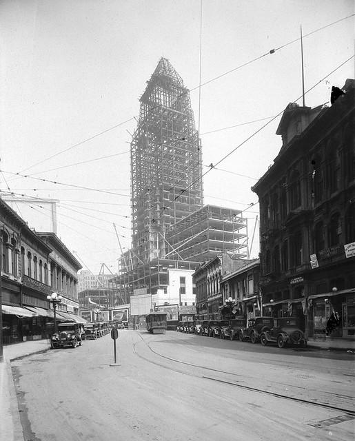 L.A. City Hall Under Construction, 1928