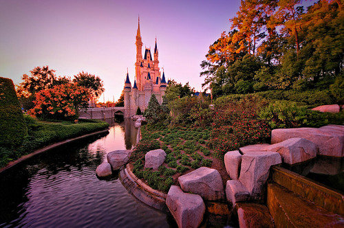 Sunset On Cinderella's Kingdom | by Express Monorail