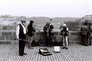 The band at the Charlers bridge