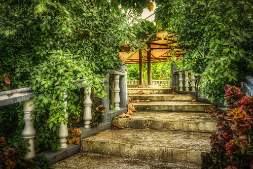 summer stairs garden landscape view philippines resort hut views cebu kiosk hdr cordova flowersplants photomatix cebusugbo