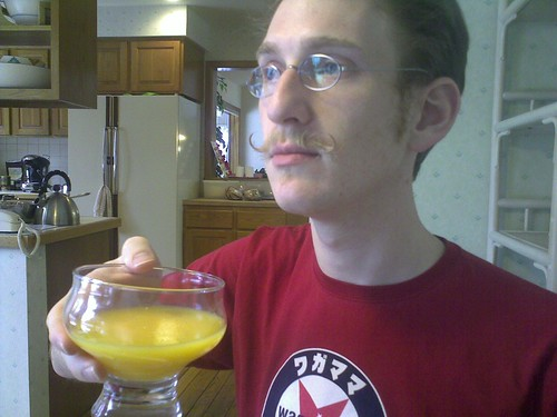 What a silly glass from which to drink OJ